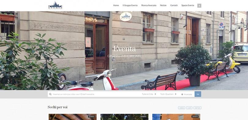 Nuovo Sito del Gruppo Eventa Immobiliare di Torino