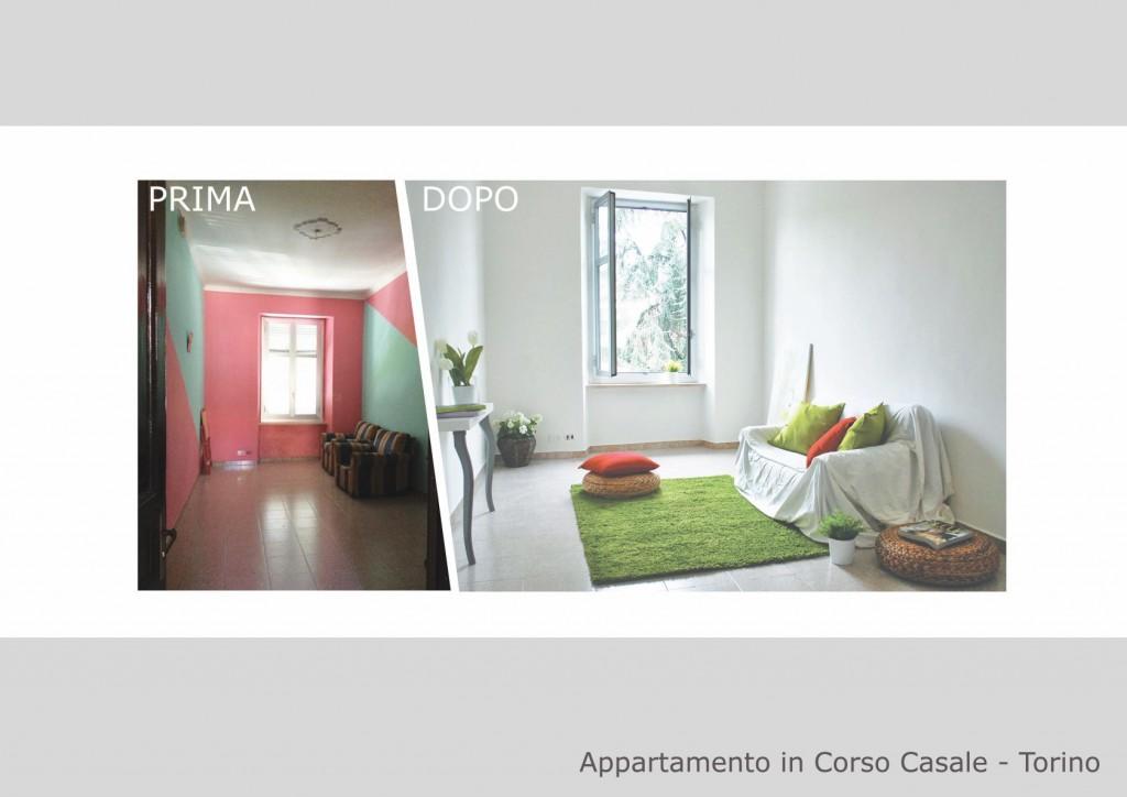 Appartamento prima e dopo il servizio di HOME STAGING